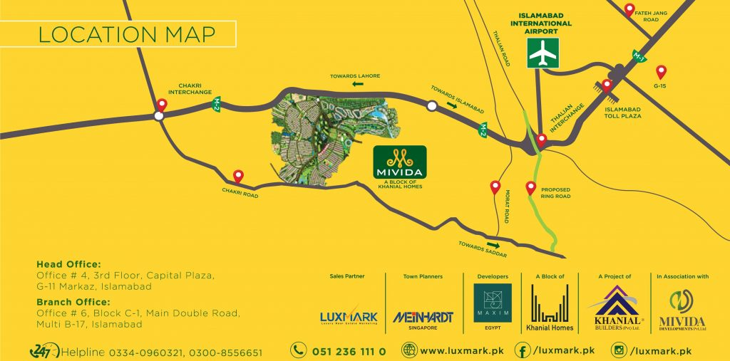 MIVIDA PAKISTAN LOCATION MAP